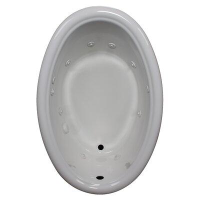 58 x 39 Whirlpool Bathtub Finish: White, Drain Location: Left
