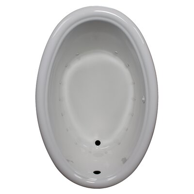 58 x 39 Air Bathtub Finish: White, Drain Location: Left