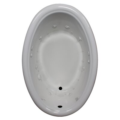58 x 39 Air / Whirlpool Bathtubub Finish: White, Drain Location: Left