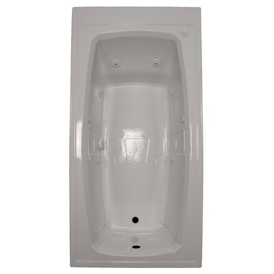 72 x 36 Whirlpool Bathtub Finish: Biscuit, Drain Location: Right