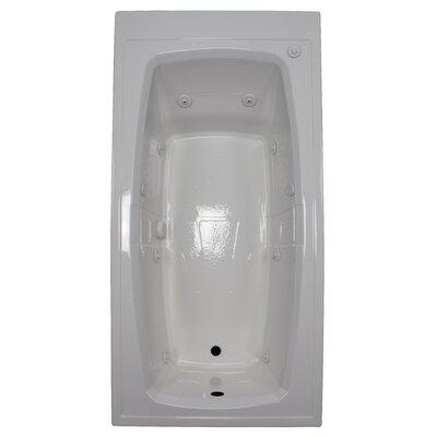 72 x 36 Whirlpool Bathtub Finish: White, Drain Location: Left