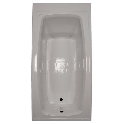72 x 36 Air Bathtub Finish: Biscuit, Drain Location: Left