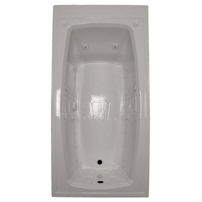 72 x 36 Air / Whirlpool Bathtubub Finish: Biscuit, Drain Location: Left