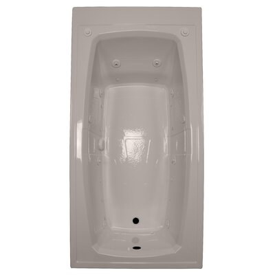 72 x 36 Air / Whirlpool Bathtubub Finish: Bone, Drain Location: Right