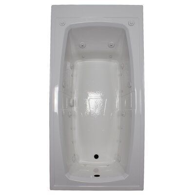 72 x 36 Air / Whirlpool Bathtubub Finish: White, Drain Location: Left