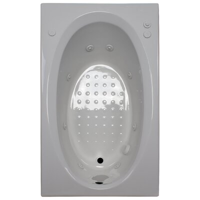 60 x 36 Whirlpool Tub Finish: White, Drain Location: Right