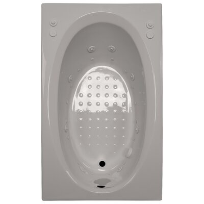 60 x 36 Salon Spa Air/Whirlpool Tub Finish: Biscuit, Drain Location: Left