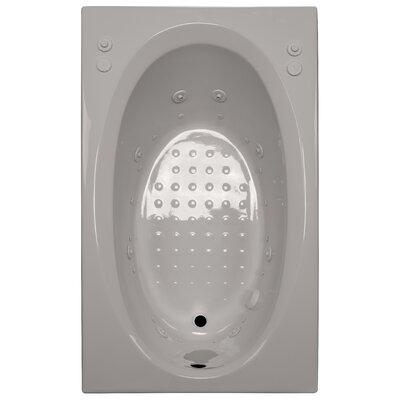 60 x 36 Salon Spa Air/Whirlpool Tub Finish: Biscuit, Drain Location: Right