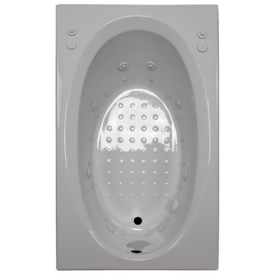 60 x 36 Salon Spa Air/Whirlpool Tub Finish: White, Drain Location: Left