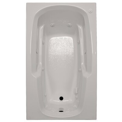 60 x 36 Arm-Rest Whirlpool Tub Finish: Biscuit, Drain Location: Left