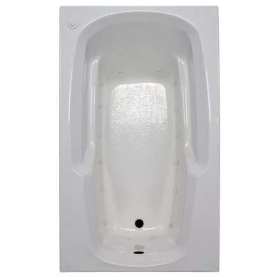 60 x 36 Arm-Rest Air Tub Finish: White, Drain Location: Right