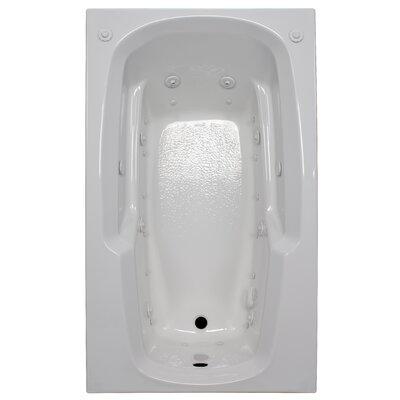 60 x 36 Arm-Rest Salon Spa Air/Whirlpool Tub Finish: White, Drain Location: Right