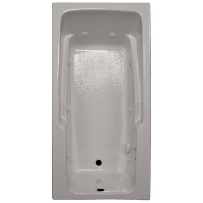 60 x 30 Armrest Whirlpool Tub Finish: Biscuit, Drain Location: Left