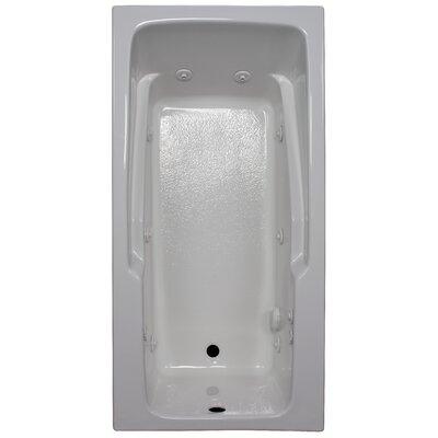 60 x 30 Armrest Whirlpool Tub Finish: White, Drain Location: Right