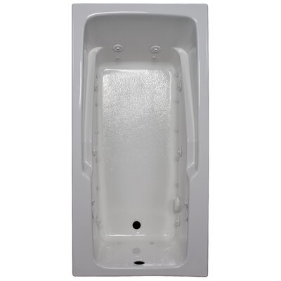 60 x 30 Armrest Salon Spa Air/Whirlpool Tub Finish: White, Drain Location: Right