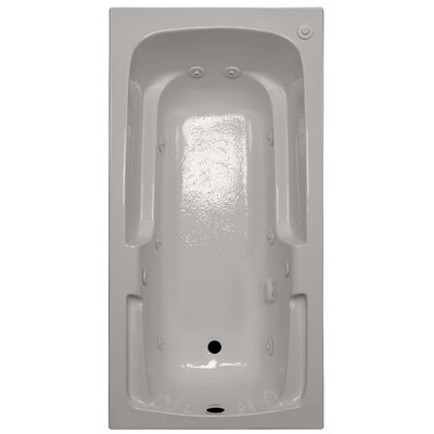 60 x 30 Arm-Rest Whirlpool Tub Finish: Biscuit, Drain Location: Right