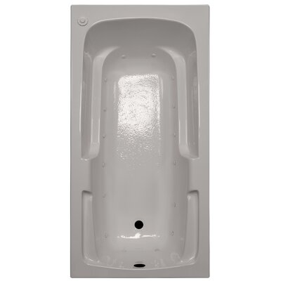 60 x 30 Arm-Rest Air Tub Finish: Biscuit, Drain Location: Right