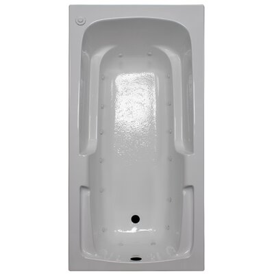 60 x 30 Arm-Rest Air Tub Finish: White, Drain Location: Right