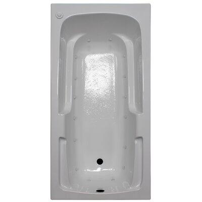 60 x 30 Arm-Rest Air Tub Finish: White, Drain Location: Left