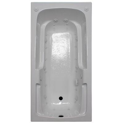 60 x 30 Arm-Rest Salon Spa Air/Whirlpool Tub Finish: White, Drain Location: Left