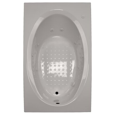 72 x 42 Whirlpool Tub Finish: Biscuit, Drain Location: Left