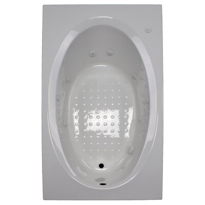 72 x 42 Whirlpool Tub Finish: White, Drain Location: Left