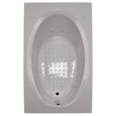 72 x 42 Salon Spa Air/Whirlpool Tub Finish: Biscuit, Drain Location: Right