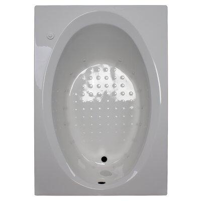 60 x 42 Rectangular Deck Air Tub Finish: White, Drain Location: Right