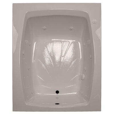 60 x 48 Whirlpool Tub Finish: Bone, Drain Location: Right