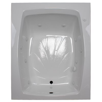 60 x 48 Whirlpool Tub Finish: White, Drain Location: Right