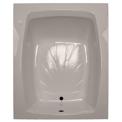 60 x 48 Air Tub Finish: Bone, Drain Location: Right