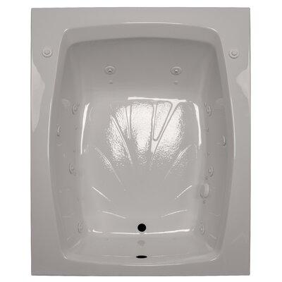 60 x 48 Salon Spa Air/Whirlpool Tub Finish: Biscuit, Drain Location: Left
