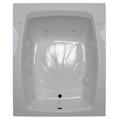 60 x 48 Salon Spa Air/Whirlpool Tub Finish: White, Drain Location: Left