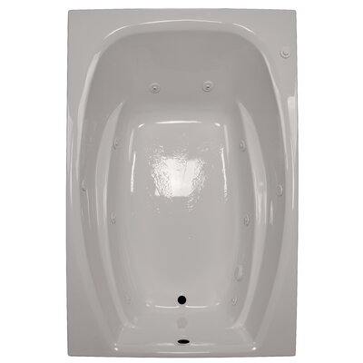 60 x 42 Rectangular Whirlpool Tub Finish: Biscuit, Drain Location: Left