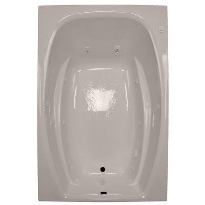 72 x 48 Whirlpool Tub Finish: Bone, Drain Location: Right