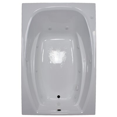 72 x 48 Whirlpool Tub Finish: White, Drain Location: Right