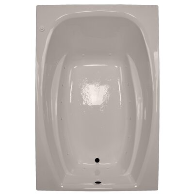 72 x 48 Air Tub Finish: Bone, Drain Location: Right