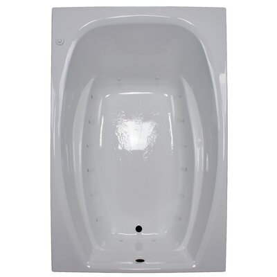72 x 48 Air Tub Finish: White, Drain Location: Left