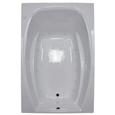 72 x 48 Air Tub Finish: White, Drain Location: Right