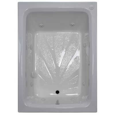 60 x 42 Rectangular Whirlpool Tub Finish: White, Drain Location: Right