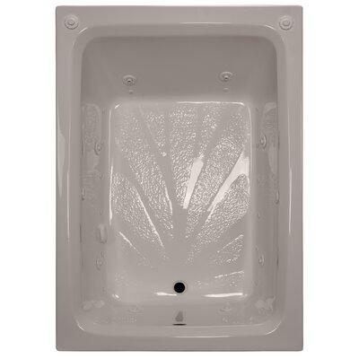60 x 42 Rectangular Salon Spa Air/Whirlpool Tub Finish: Bone, Drain Location: Right