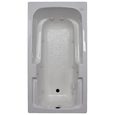60 x 32 Arm-Rest Whirlpool Tub Finish: White, Drain Location: Right