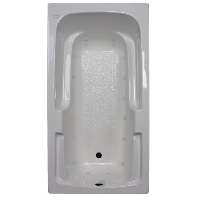 60 x 32 Arm-Rest Air Tub Finish: White, Drain Location: Right