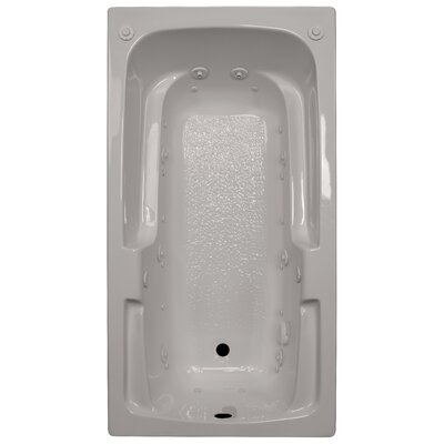 60 x 32 Arm-Rest Salon Spa Air/Whirlpool Tub Finish: Biscuit, Drain Location: Right