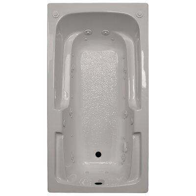 60 x 32 Arm-Rest Salon Spa Air/Whirlpool Tub Finish: Biscuit, Drain Location: Left
