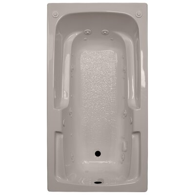 60 x 32 Arm-Rest Salon Spa Air/Whirlpool Tub Finish: Bone, Drain Location: Left