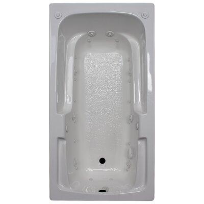 60 x 32 Arm-Rest Salon Spa Air/Whirlpool Tub Finish: White, Drain Location: Left