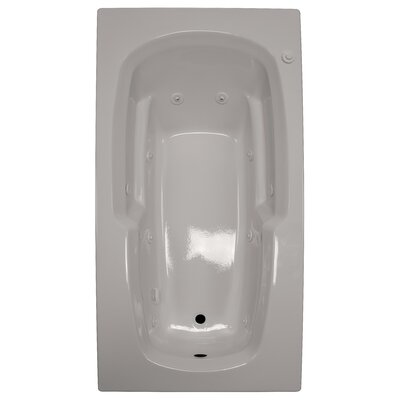 72 x 36 Armrest Whirlpool Tub Finish: Biscuit, Drain Location: Left