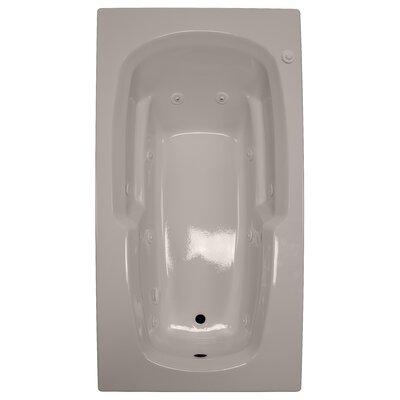72 x 36 Armrest Whirlpool Tub Finish: Bone, Drain Location: Left