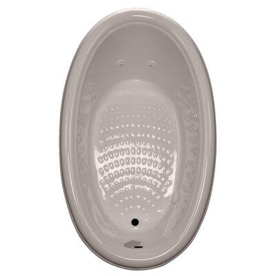 69 x 41 Drop-In Whirlpool Tub Finish: Bone, Drain Location: Right
